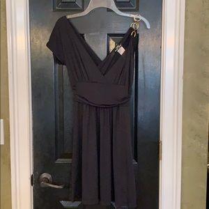 Baby Phat LBD plunge neckline black dress small